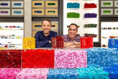 Hamish Blake and Brickman on LEGO Masters