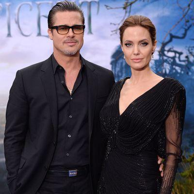 <p>Brad Pitt and Angelina Jolie</p>