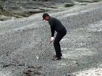 WATCH: Day makes incredible par from the beach