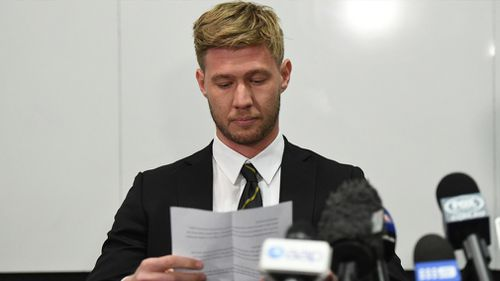 """""""I take full responsibility for what I have done. I sent a very private picture without this young woman's consent,"""" Broad told the media conference."""