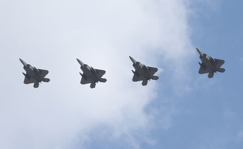 US F-22 fighter jets have intercepted Russian aircraft off the coast of Alaska as tensions grow over alleged election interference.