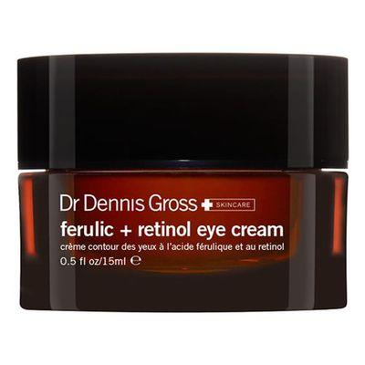 "<a href=""http://www.sephora.com/ferulic-retinol-eye-cream-P388622"" target=""_blank"">Dr Dennis Gross Skincare Ferulic Retinol Eye Cream, $99.</a>"
