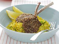 Dukkah-crusted lamb with couscous