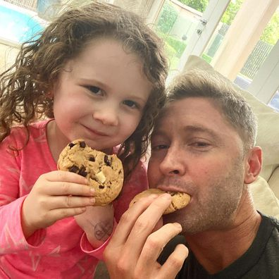 Michael Clarke poses with daughter Kelsey