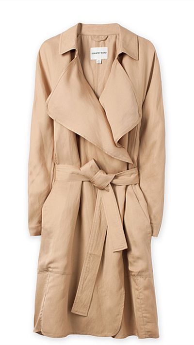 """<a href=""""http://www.countryroad.com.au/Product/60177434""""> Waterfall Trench Coat, $229, Country Road</a>"""