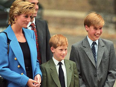 Princess DIana, Prince Charles and their sons William and Harry in 1995.
