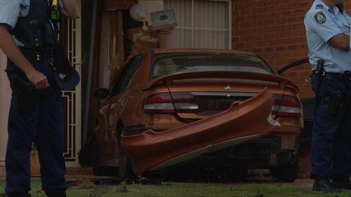 The driver was chased down by a member of the public. (9NEWS)