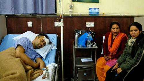 Plane crash survivor Basanta Bohora in hospital. (Photo: AP).