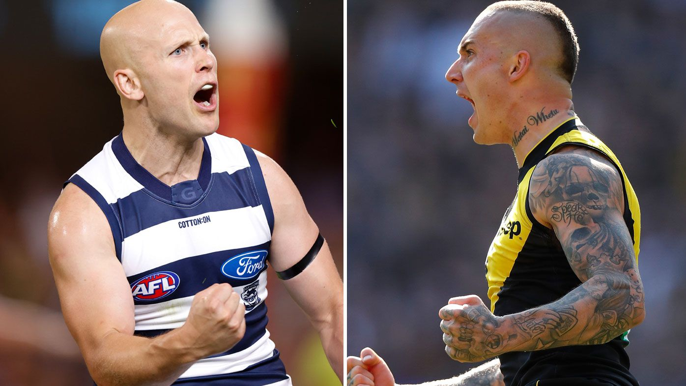Gary Ablett and Dustin Martin will headling the 2020 AFL Grand Final between Geelong and Richmond. (Getty)