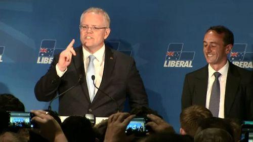 Mr Morrison praised Liberal candidate Dave Sharma.
