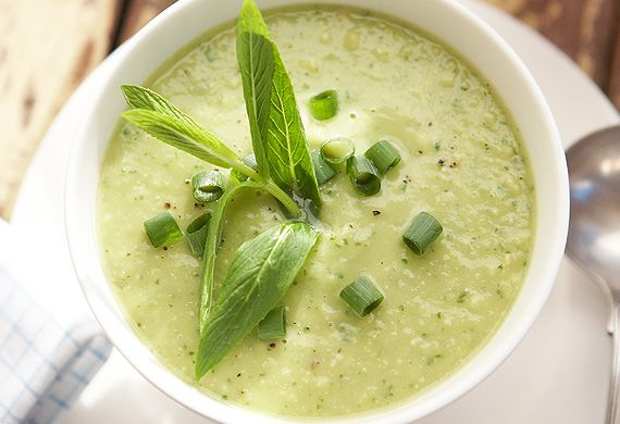 Lee Holmes' avocado and mint soup