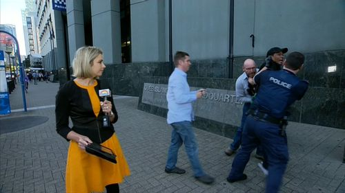 The man has been charged with public nuisance and obstructing police. (9NEWS)