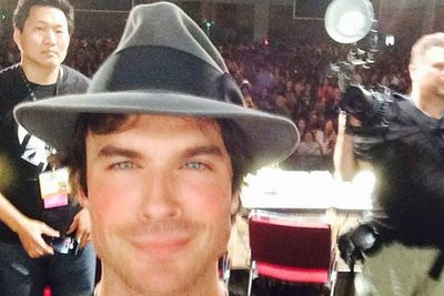 Ian Somerhalder posted a few selfies too!