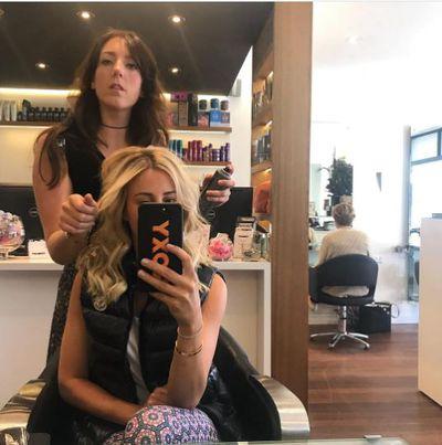 PR guru Roxy Jacenko hitting the salon before the big day.