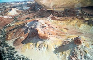 Anna Creek Painted Hills from above.
