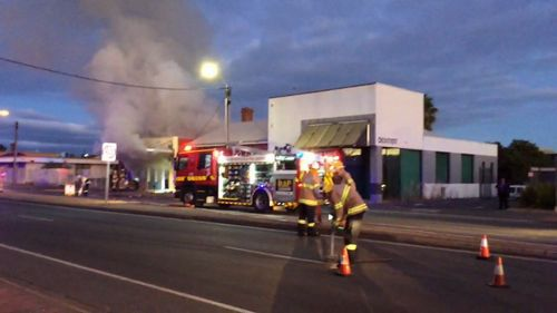 An historic butcher's shop has been gutted by fire in Adelaide's west.