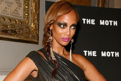 Seriously. Someone let Tyra Banks leave the house like this.