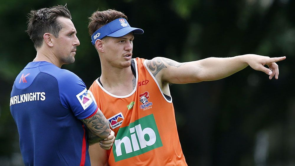Newcastle Knights fullback Kalyn Ponga the next NRL superstar, says halfback Mitchell Pearce