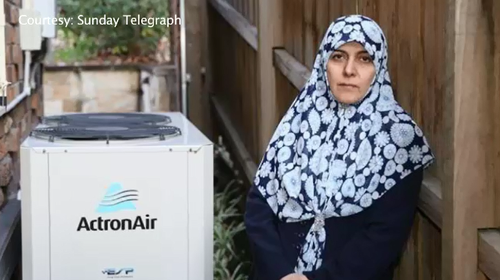 Dr Fatemah Nazaran refuses to turn off the air conditioner and told the family next door she has the right to enjoy it.