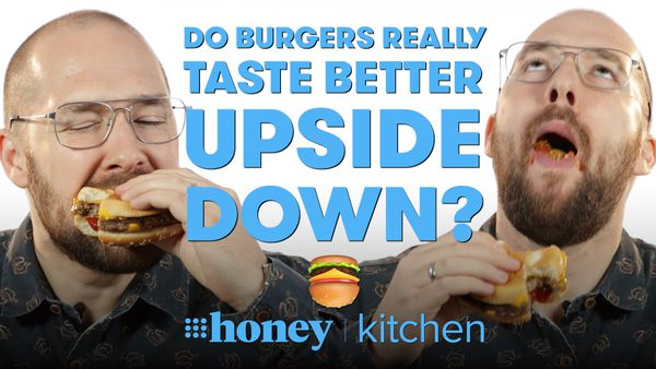 Do burgers taste better upside down?