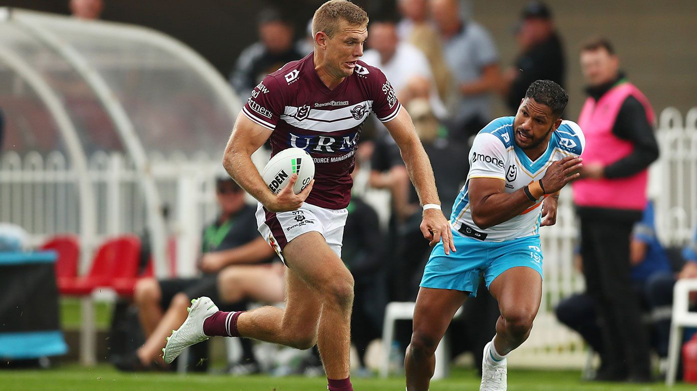 'He's back!': Stellar Tom Trbojevic return inspires Manly to huge win over Titans