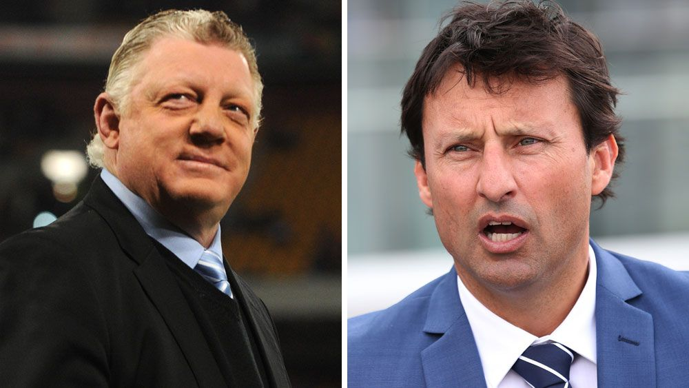 Two of rugby league's most powerful men, Laurie Daley and Phil Gould, have united to condemn the NRL judicial system over the handling of the shoulder charge debacle.