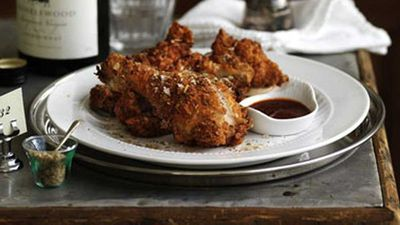 <strong>Crisp Southern fried chicken</strong>