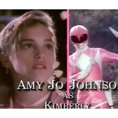 Amy Jo Johnson as Pink Ranger/Kimberly Hart: Then