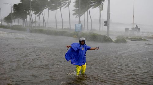 Typhoon Mangkhut has torn through the northern tip of the Philippines packing winds of more than 200km/h along with torrential rain