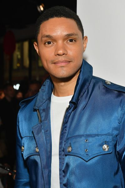 Trevor Noah front row at Calvin Klein, New York Fashion Week, September 2017.