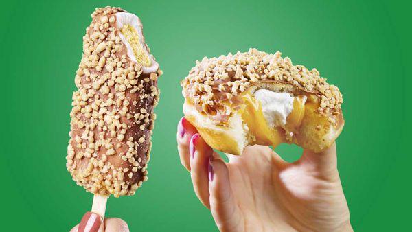 The Golden Gaytime and Krispy Kreme collaboration