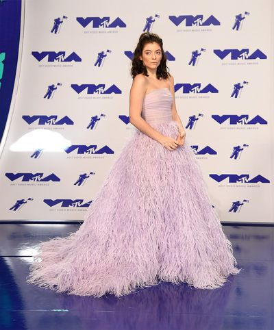 Lorde in Monique Lhuiller at the MTV VMAs on August 27 in LA.
