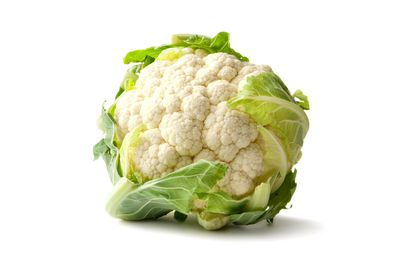 2/3 medium head of cauliflower is 100 calories