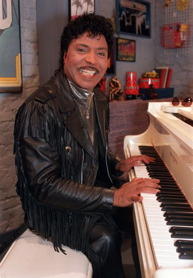 In this Jan. 22, 1988 file photo, Little Richard plays the piano during taping at The Movie Channel Inc., in New York.