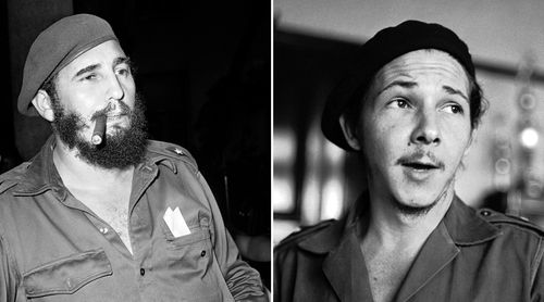 Fidel Castro and brother Raul in their much younger years at the time of the Cuban revolution. (AAP)