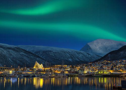Tromso, Artic Circle. Aurora borealis
