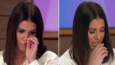 Rebekah Vardy crying on ITV Loose Women