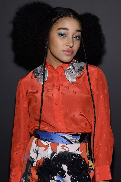 We first cast our eyes on actress Amandla Stenberg in her breakout role as Rue in <em>The Hunger Games</em>. Now she's all grown up and earning some serious fashion cred. At the recent autumn/winter 2016 shows, her curly locks were spotted front row at Marc Jacobs and Alexander Wang.