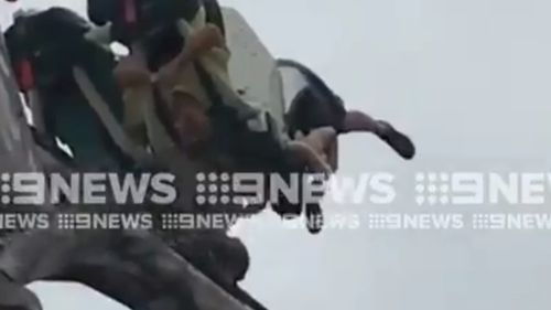 The Doomsday Destroyer is 21 metres high at its peak position. (9NEWS)