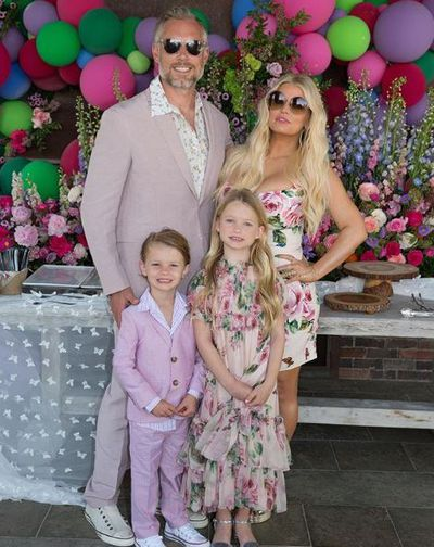 Jessica Simpson and her daughter Maxwell Drew have mastered the art of mother-daughter dressing.<br> The singer posted a picture to her 4.1 million Instagram showing off their matching spring-inspired outfits for Easter Sunday.<br> The fashion designer wore a $2,473 Dolce & Gabbana rose-print crepe dress, while her look-alike daughter donned a mini-me version of the dress with a steep price tag of $1,821.