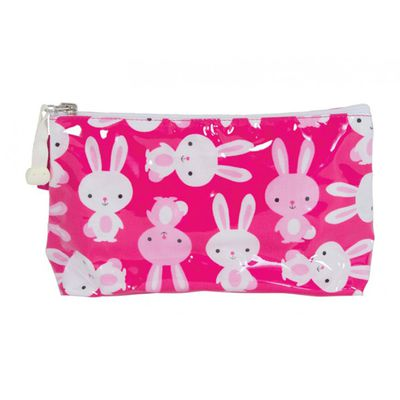 """<a href=""""http://www.annabeltrends.com/kids-baby/cosmetic-bags.html"""" target=""""_blank"""">Annabel Trends Small Bunny Cosmetic Bag Bunny, $14.95.</a>"""