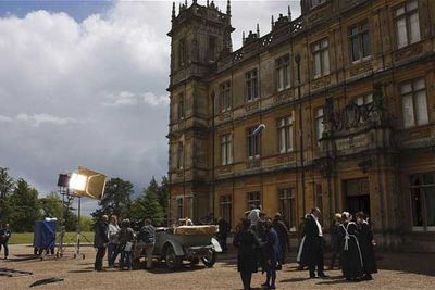 Exterior shots for the series are shot at Highclere Castle in Berkshire.