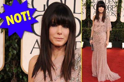 Congratulations, Sandra's stylist - you're sacked.