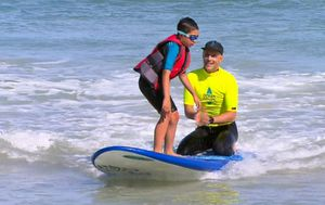 Ocean Heroes charity teaching Perth children with autism water safety through surfing