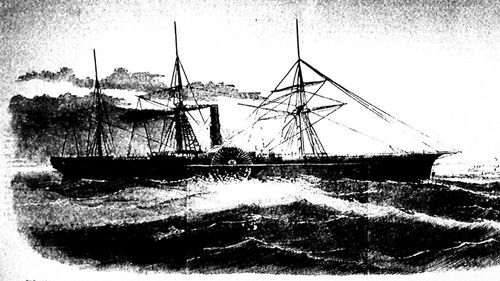 Illustration of SS Central America