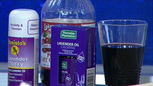 Cherry juice and lavender oil will assist with a cool night's sleep. (9NEWS)