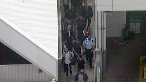 Niall Horan, Liam Payne, and Louis Tomlinson from One Direction arrive in Sydney. Harry Styles and Zayn
