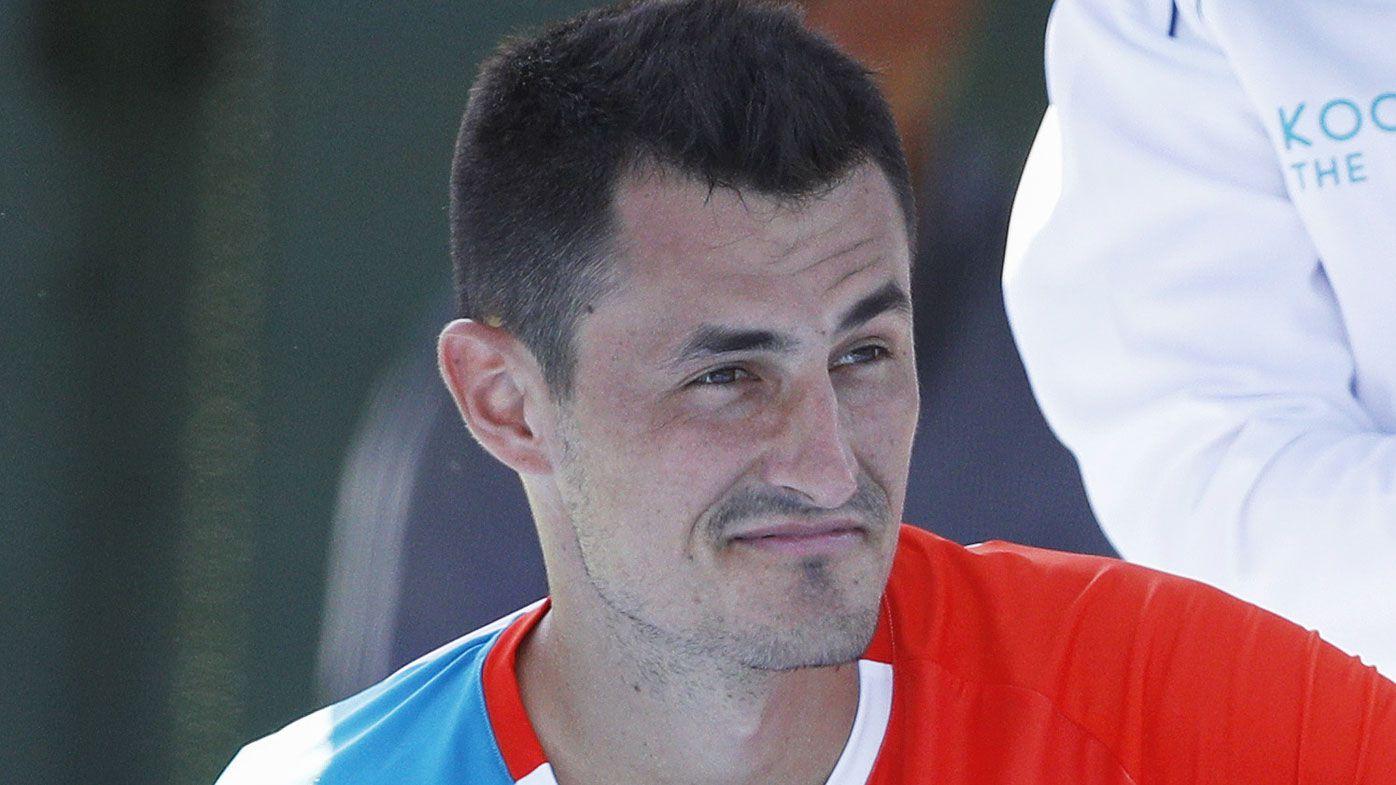 Bernard Tomic beats Nick Kyrgios at Kooyong Classic, ends in bizarre ace