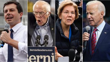 Pete Buttigieg, Bernie Sanders, Elizabeth Warren and Joe Biden are all gaining traction to potentially oust Donald Trump as US President next year.