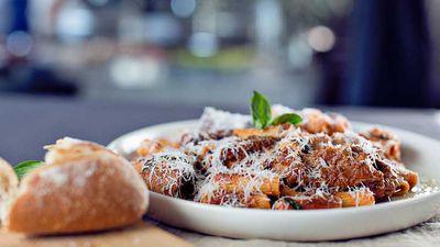 """Recipe: <a href=""""http://kitchen.nine.com.au/2016/08/11/14/00/nonna-pinas-pasta-con-ragu"""" target=""""_top"""">Nonna Pina's five-hour pasta con ragu</a>"""